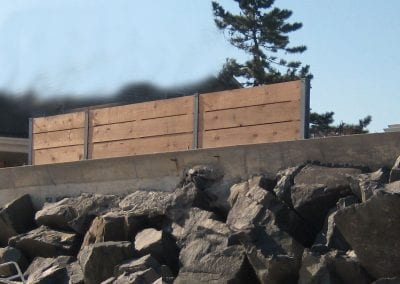 Ocean Front Protective Barrier survived Sandy